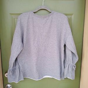 Zara tie up sleeves sweatshirt